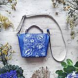 Kabelky - Kabelka SWEET BAG - modré kvety v linke - 12555877_