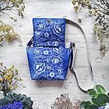 Kabelky - Kabelka SWEET BAG - modré kvety v linke - 12555879_