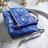 Kabelky - Kabelka SWEET BAG - modré kvety v linke - 12555881_