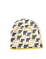 """Detské čiapky - Dvojvrstvová čiapka """"happy dog"""" - 12556822_"""