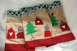 Úžitkový textil - Vianoce. Mikulášské a vianočné vrecko - 12556404_