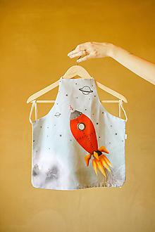 Textil - Zásterka Raketa s autorskou grafikou - 12557304_