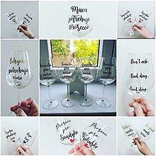 Nádoby - Vínové poháre s vlastným textom - 12558398_