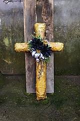 Dekorácie - Krížik na hrob - 12557033_