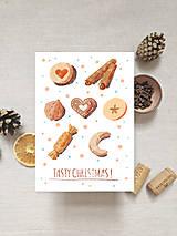 Papiernictvo - set vianočných pohľadníc - anglický text - 12553775_