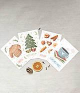 Papiernictvo - set vianočných pohľadníc - anglický text - 12553777_