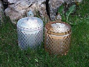Svietidlá a sviečky - Palmová sviečka Cristallo marrone - 12553907_