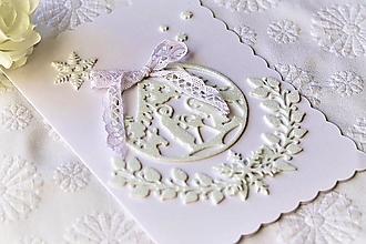 Papiernictvo - Vianočná pohľadnica-Svätá Rodina - 12556487_