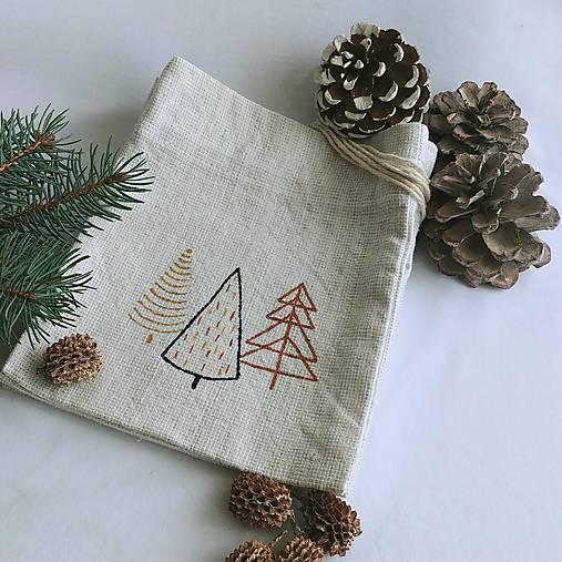 Vianočné vrecúško - stromčeky
