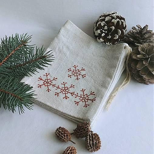 Vianočné vrecúško - snehové vločky