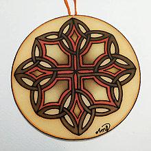 Dekorácie - Mandala hodvábna - keltský vzor I. - 12557563_