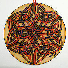Dekorácie - Mandala hodvábna - keltský vzor II. - 12557604_