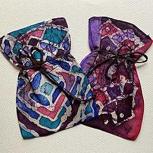 Úžitkový textil - Hodvábne vrecúško batikované - 12558009_