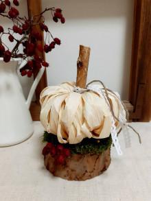 Dekorácie - Jesenná dekorácia - tekvička - 12555372_