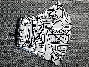 Rúška - Pánske rúško Bratislava s antibakteriálnou bavlnou (dámska veľkosť) - 12564229_