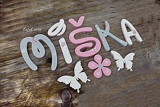 Detské doplnky - drevené písmenká 10-12cm - 12559801_