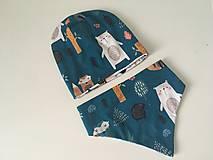 Detské súpravy - Detsky obojstranny set- ciapka a trojuholnicek - 12560475_