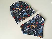 Detské súpravy - Detsky obojstranny set- ciapka a trojuholnicek - 12560491_