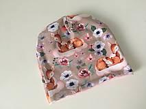 Detské súpravy - Detsky obojstranny set- ciapka a trojuholnicek - 12560531_