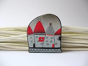 Odznaky/Brošne - ,,Šedé domčeky,, - 12562773_
