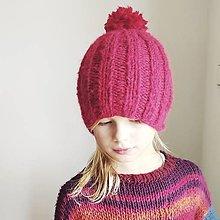 Detské čiapky - detská čiapka na zimu MERINO-ALPAKA - 12562039_
