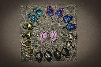 Náušnice - Farebné náušničky - soutache earrings - 12562482_