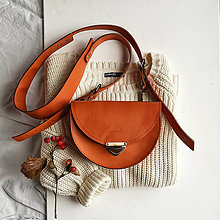 Kabelky - Kožená kabelka Daphne (oranžová) - 12559222_