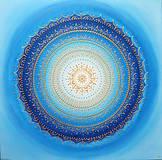 Obrazy - Mandala POKOJ V DUŠI (blue) 60 x 60 - 12559357_