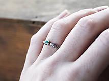 Prstene - Vetvičkový s tsavoritom - 12563948_