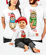 Tričká - Vianočné oblečenie pre celú rodinu so Sovičkami (pre jednu Sovičku) - 12561326_