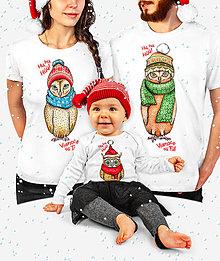 Tričká - Vianočné oblečenie pre celú rodinu so Sovičkami - 12561326_