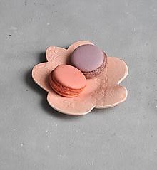 Nádoby - tanierik, podšálka , kvet čipka - 12562324_