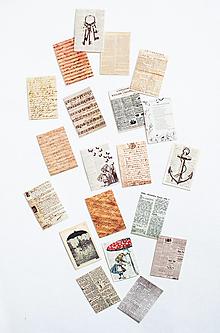 Papier - Set mini kariet vintage - 12561707_