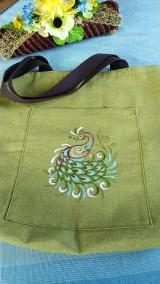 Nákupné tašky - Nákupná taška páv - 12560570_