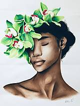 "Kresby - Botanické ArtDeco ""Endless Feminity"" - 12561669_"