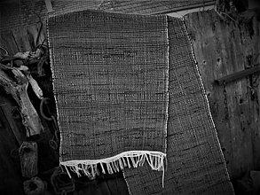 Úžitkový textil - Tkaný čierny koberec - 12558668_