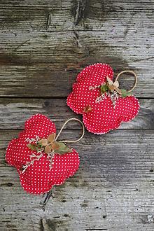 Dekorácie - Vianočné šité ozdoby - jabĺčko - 12568790_