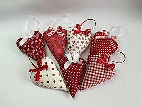 Dekorácie - Srdiečka vianočné (Ozdobná mašľa) - 12566130_