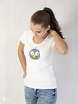 Tričká - Vták Gabo - dámske tričko - 12564616_