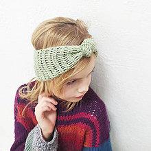 Detské čiapky - MINIčelenka UZLÍK  z hodvábu - 12566448_