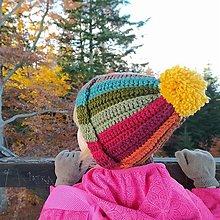Detské čiapky - unikátna detská čiapka COLOURFULL - 12566595_