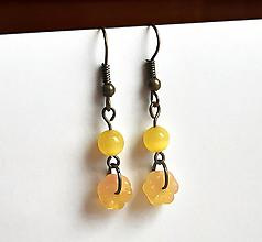 Náušnice - Slniečkové medové kvetinky náušnice - 12568791_