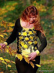 Tričká - Dámske tričko šité, batikované, maľované JAVOROVÔ - 12565772_