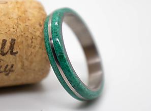 Prstene - Prstienok Titan & Malachit - 12564557_