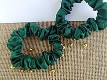 Ozdoby do vlasov - Jedličkové scrunchies minimalistické - 12565896_