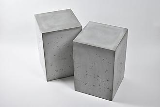 Nábytok - Betónový stolík - Cube S - 12564942_