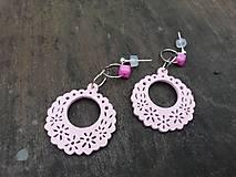 Náušnice - Ružové náušničky pre princezničky - 12569352_