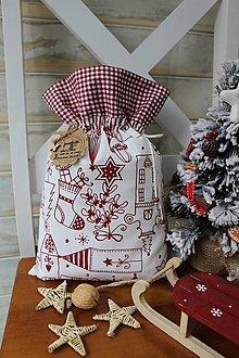 Úžitkový textil - Mikulášske vrecúško - 12565706_