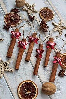 Dekorácie - Vianočná ozdoba-škoricové drievko - 12567125_