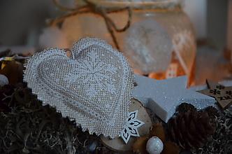 Dekorácie - Vianočné srdiečko mini - 12568723_